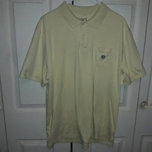 Chaps Polo Top Men's Size XL Light Yellow